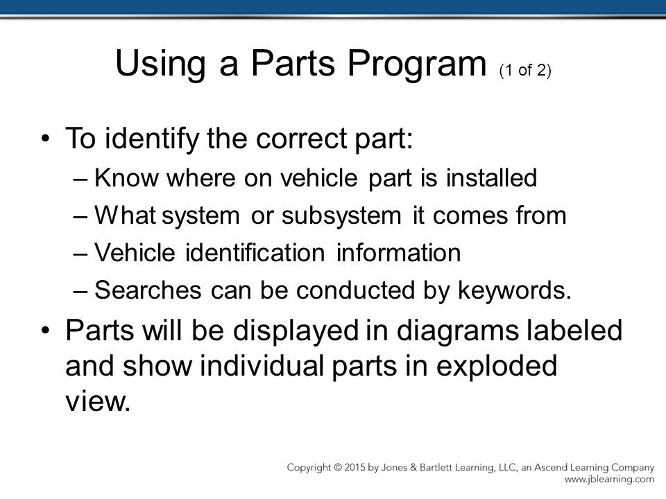 Using a Parts Program (1 of 2)