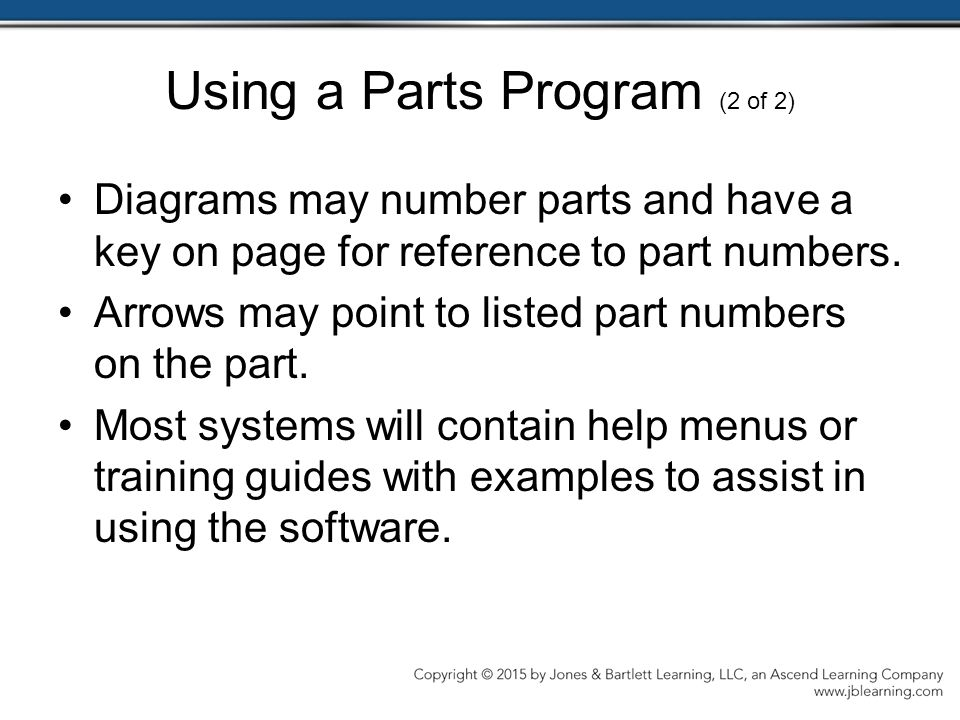 Using a Parts Program (2 of 2)
