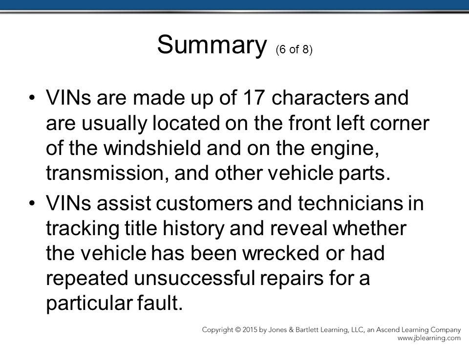 Summary (6 of 8)