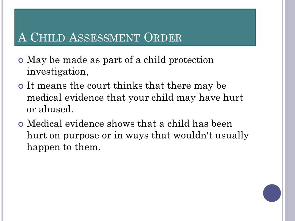 A Child Assessment Order