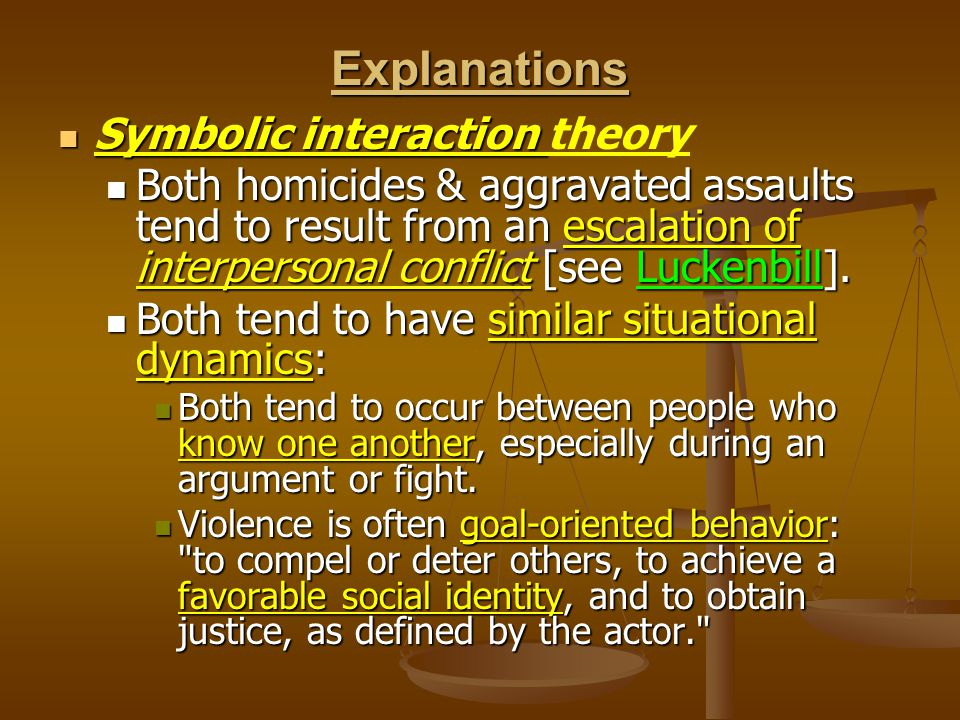 Explanations Symbolic interaction theory