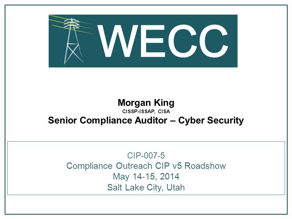 Compliance Outreach CIP v5 Roadshow