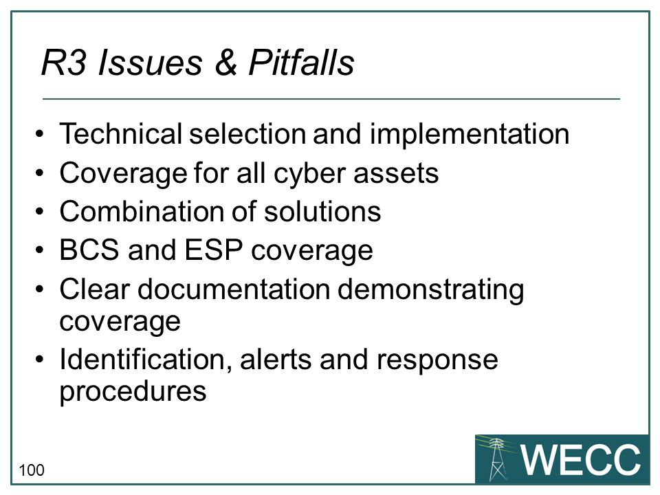 R3 Issues & Pitfalls Technical selection and implementation