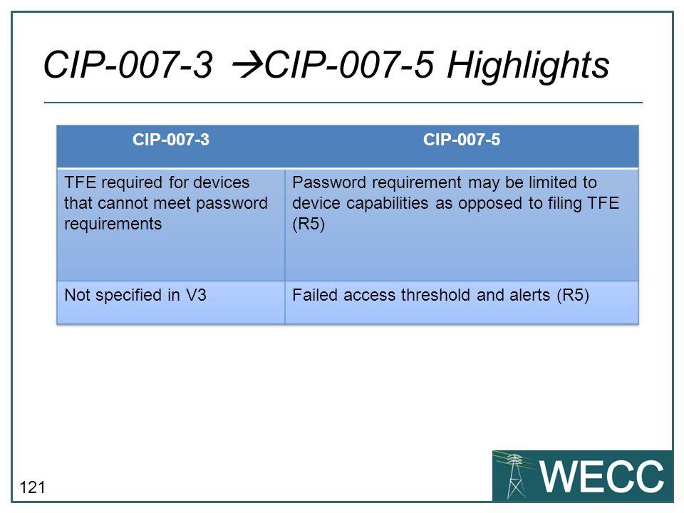 CIP-007-3 CIP-007-5 Highlights