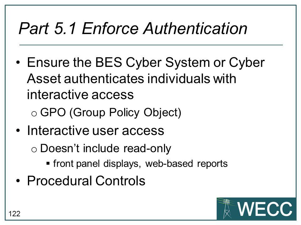 Part 5.1 Enforce Authentication