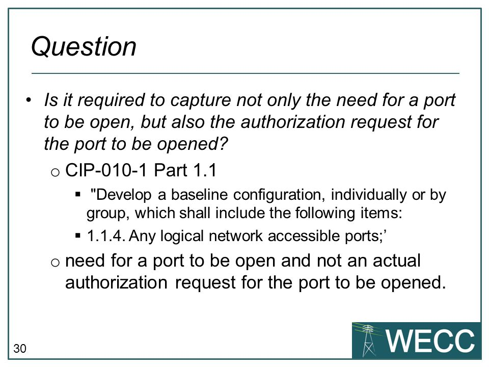 CIP-101 September 24-25, 2013 Question.