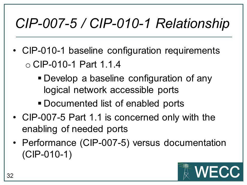 CIP-007-5 / CIP-010-1 Relationship