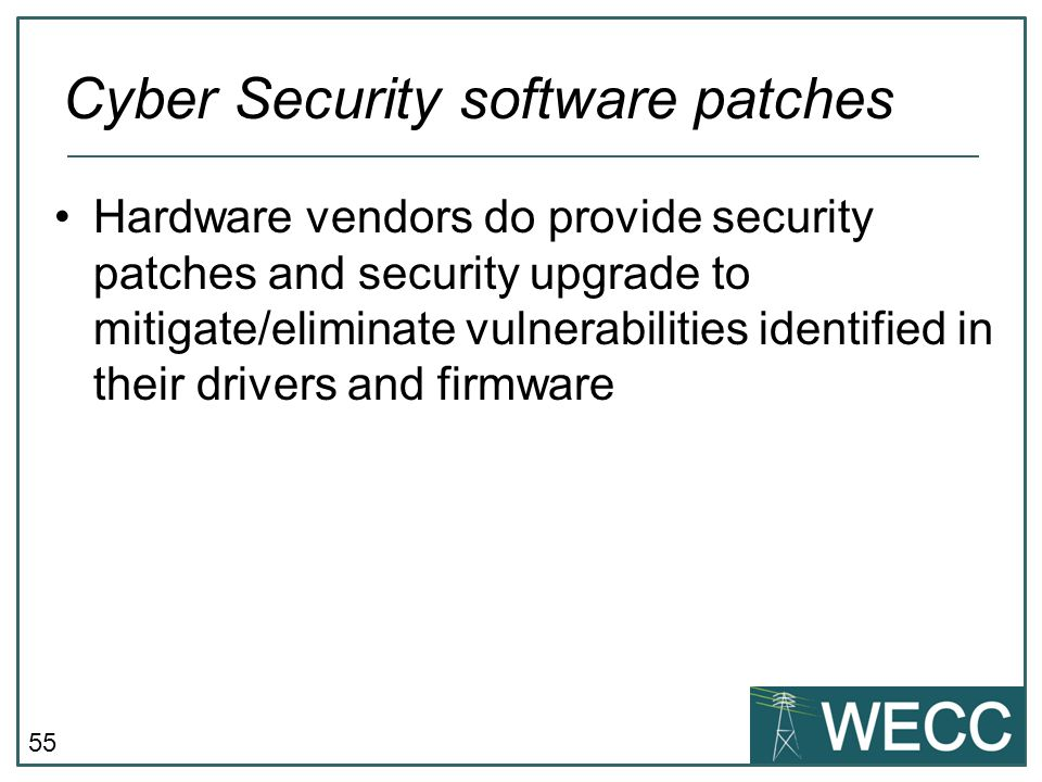 Cyber Security software patches
