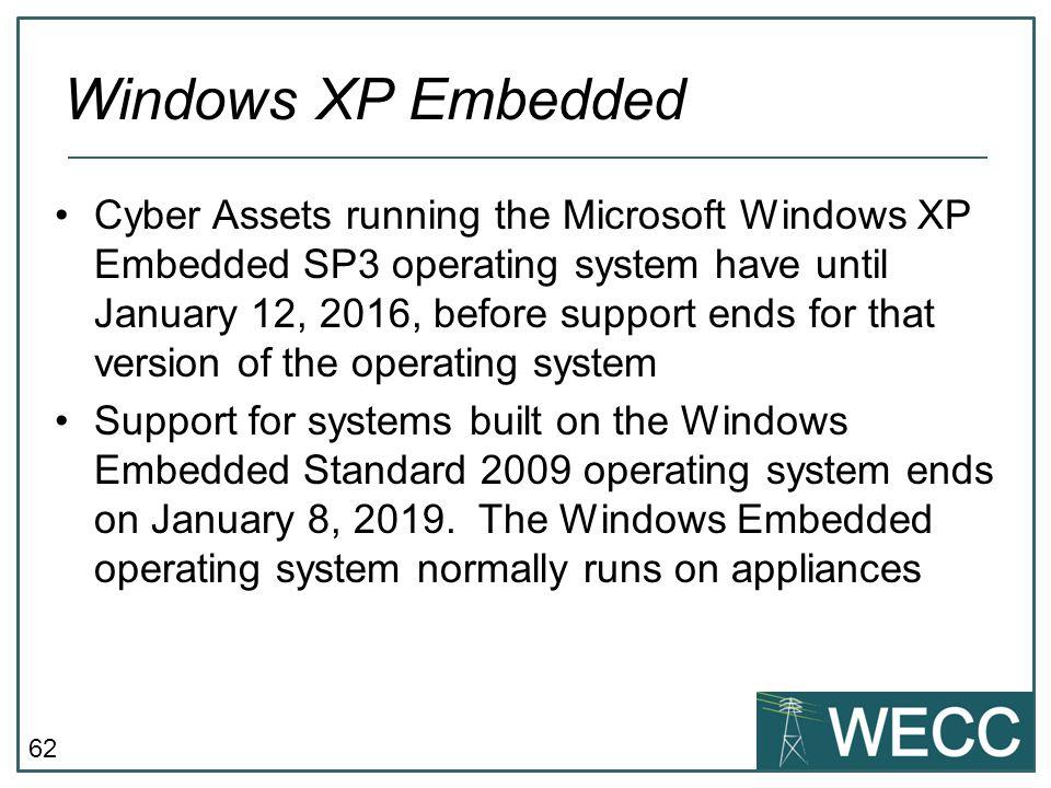 CIP-101 September 24-25, 2013 Windows XP Embedded.