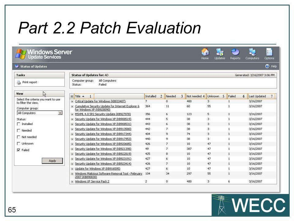 Part 2.2 Patch Evaluation