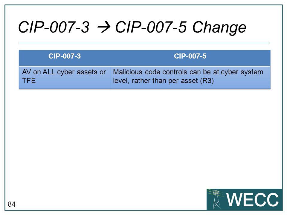 CIP-007-3  CIP-007-5 Change CIP-007-3 CIP-007-5
