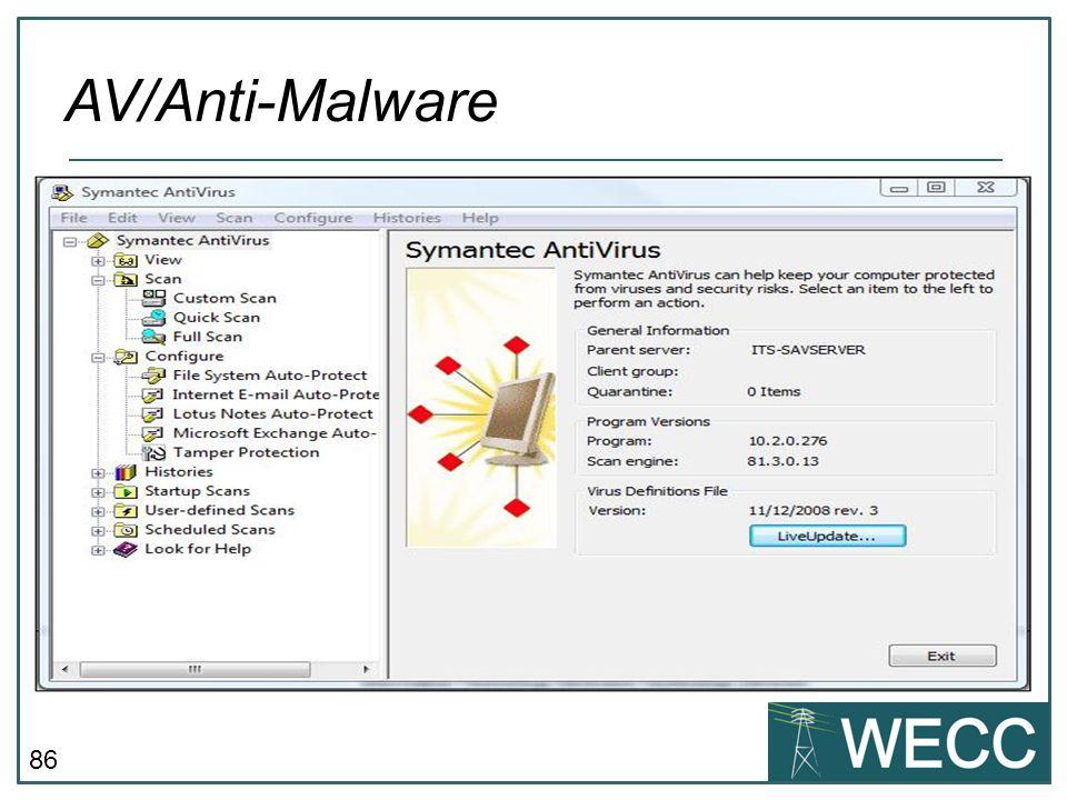 AV/Anti-Malware