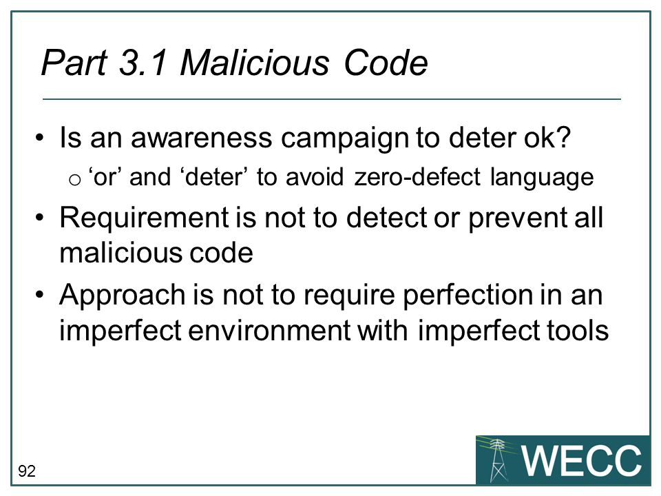 Part 3.1 Malicious Code Is an awareness campaign to deter ok