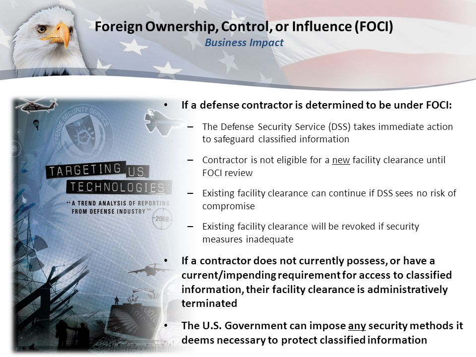 Foreign Ownership, Control, or Influence (FOCI) Business Impact