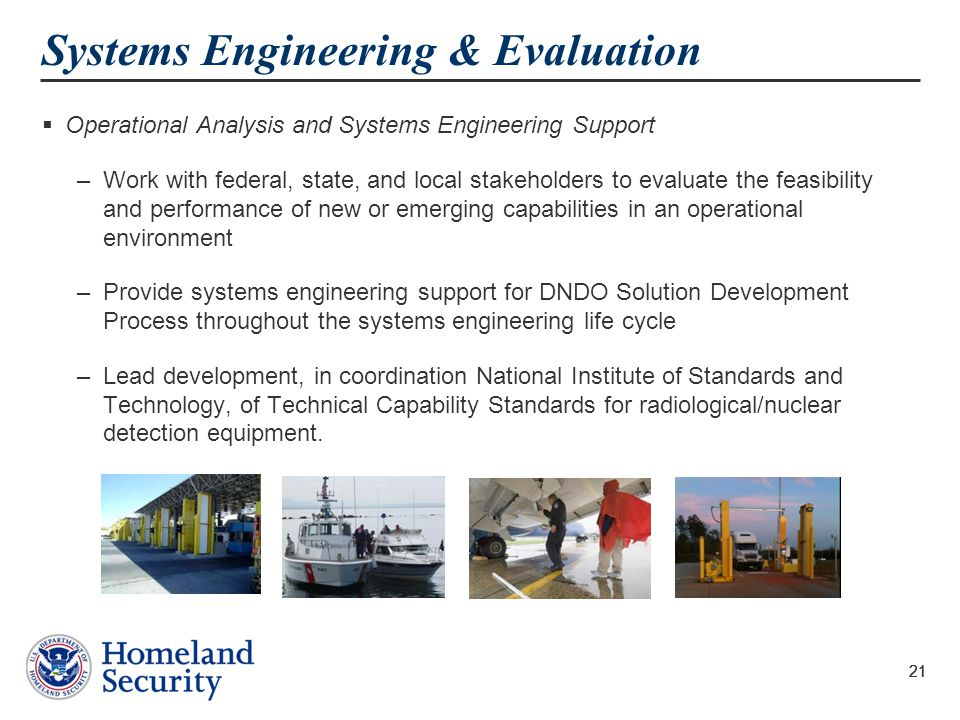 Systems Engineering & Evaluation