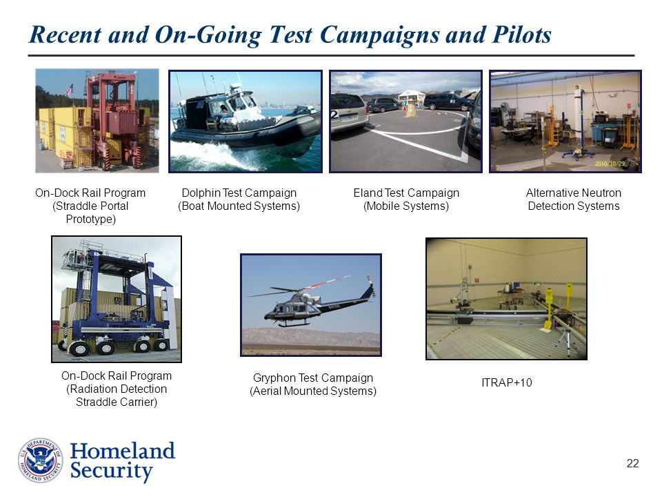 Recent and On-Going Test Campaigns and Pilots