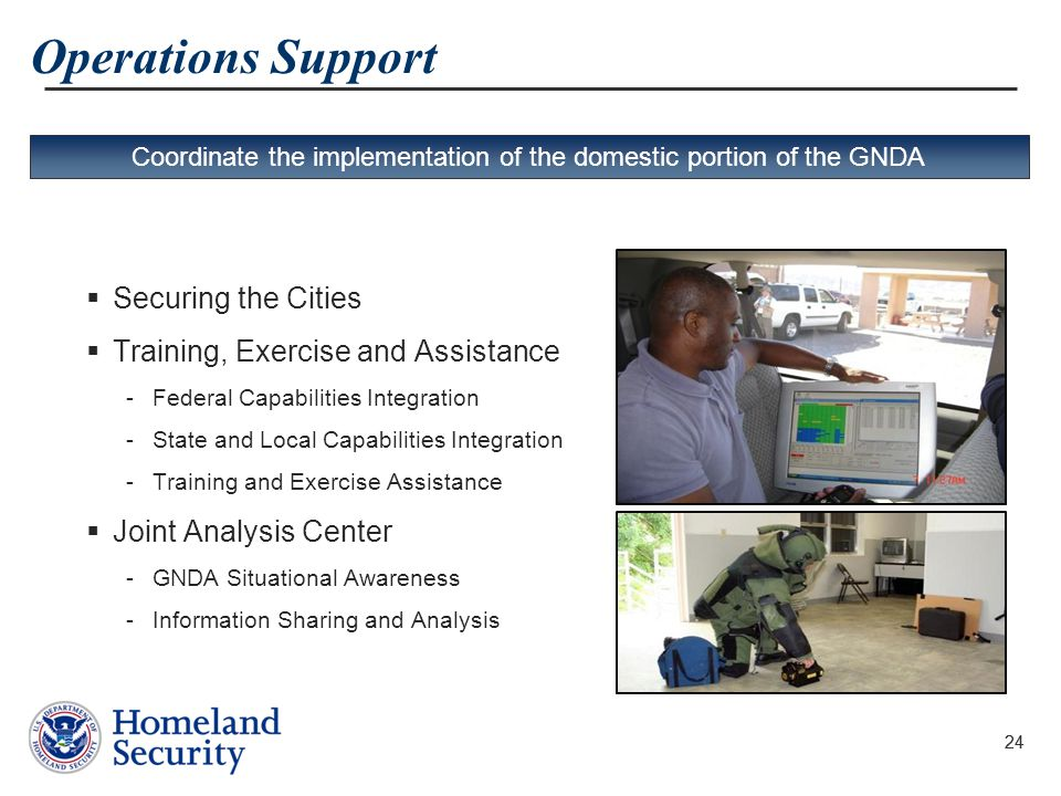 Coordinate the implementation of the domestic portion of the GNDA
