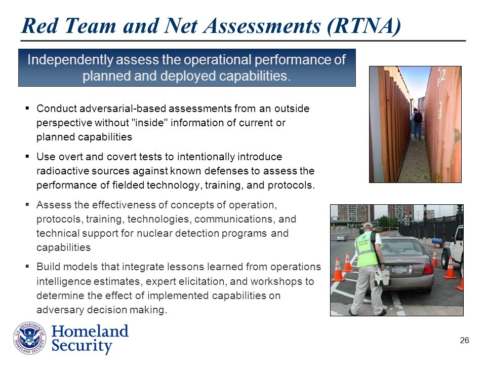 Red Team and Net Assessments (RTNA)