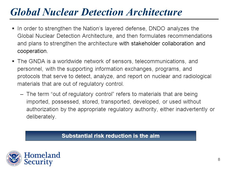Global Nuclear Detection Architecture