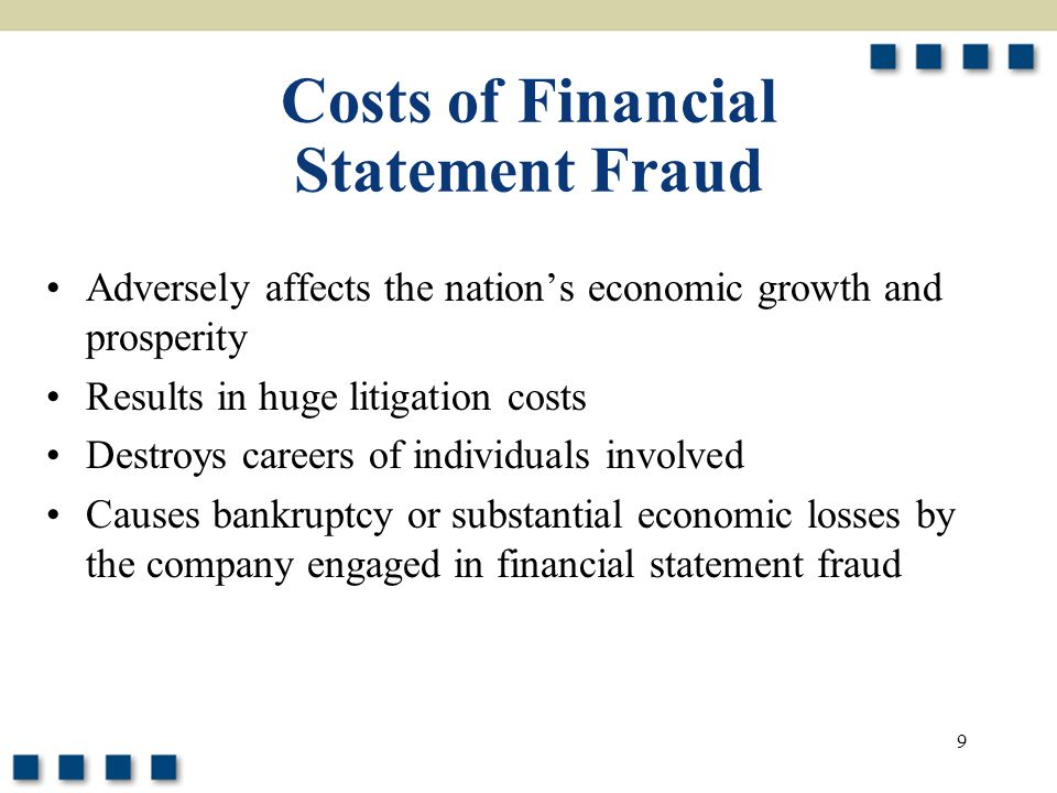 Costs of Financial Statement Fraud
