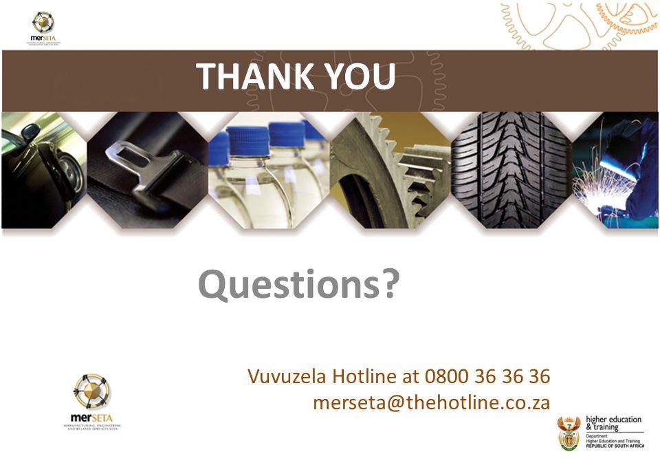 Questions THANK YOU Vuvuzela Hotline at 0800 36 36 36