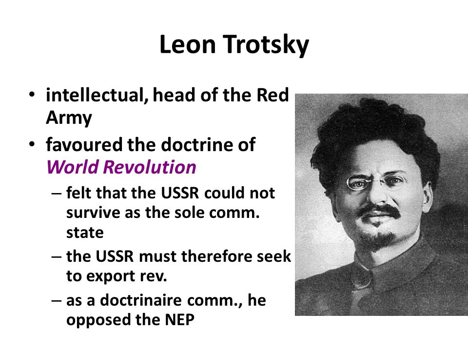 Leon Trotsky intellectual, head of the Red Army