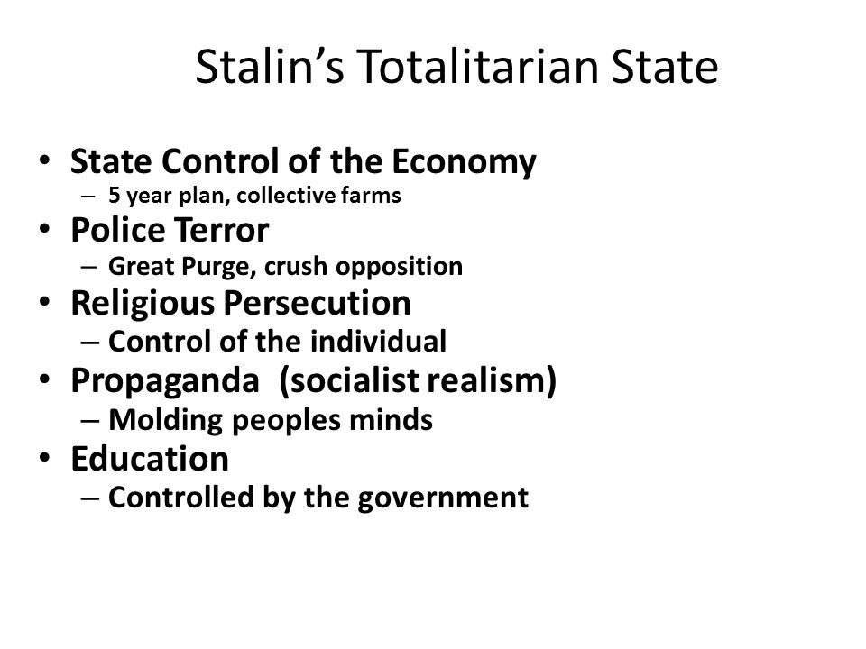 Stalin's Totalitarian State