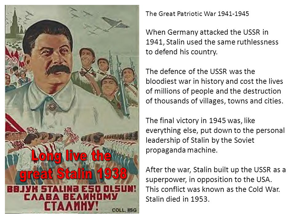 Long live the great Stalin 1938