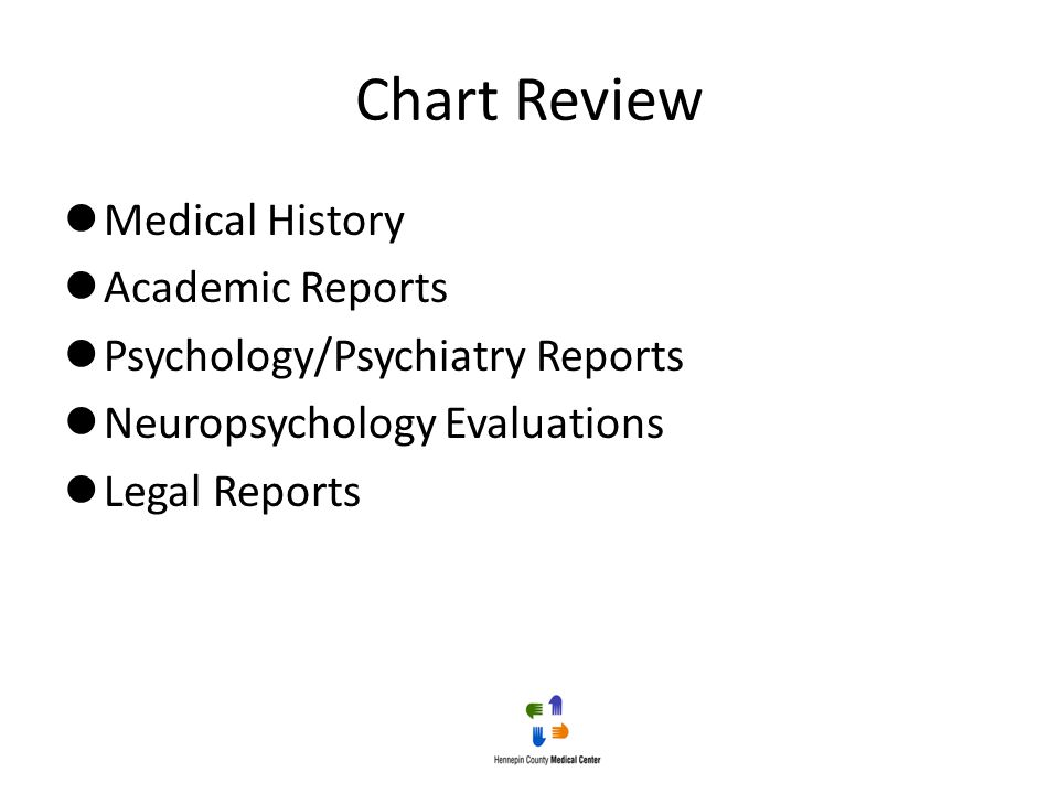 Chart Review Medical History Academic Reports