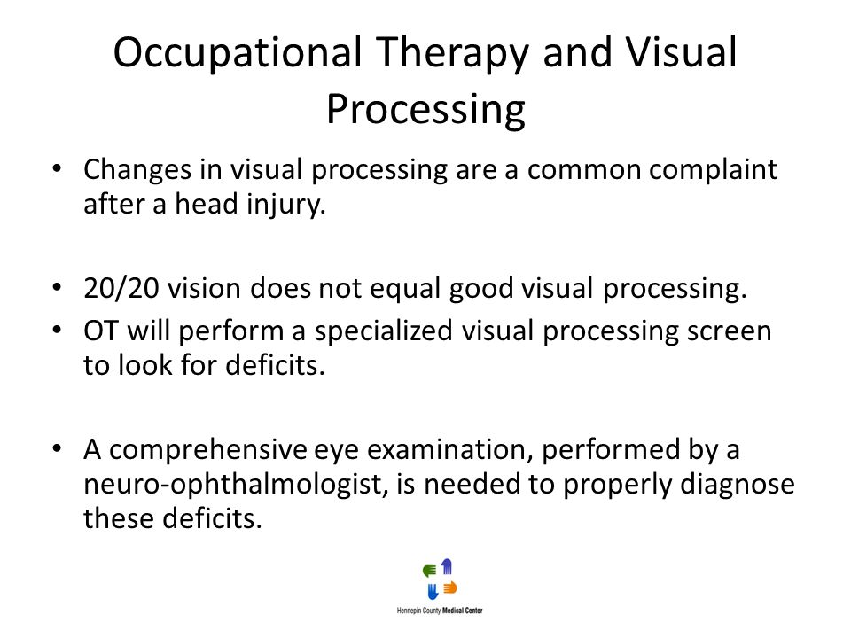 Occupational Therapy and Visual Processing