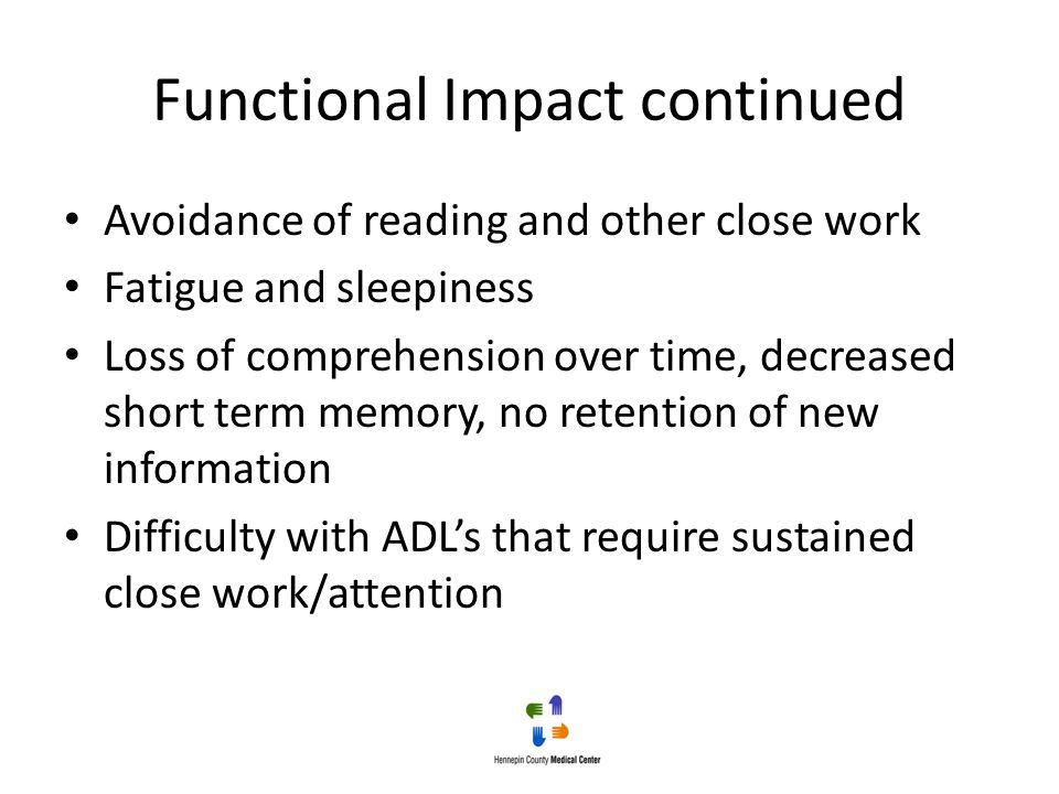 Functional Impact continued