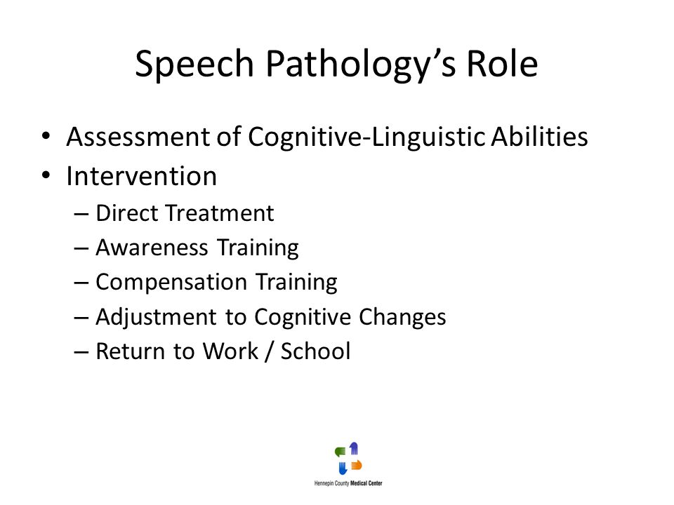 Speech Pathology's Role