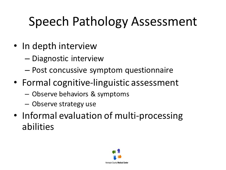 Speech Pathology Assessment