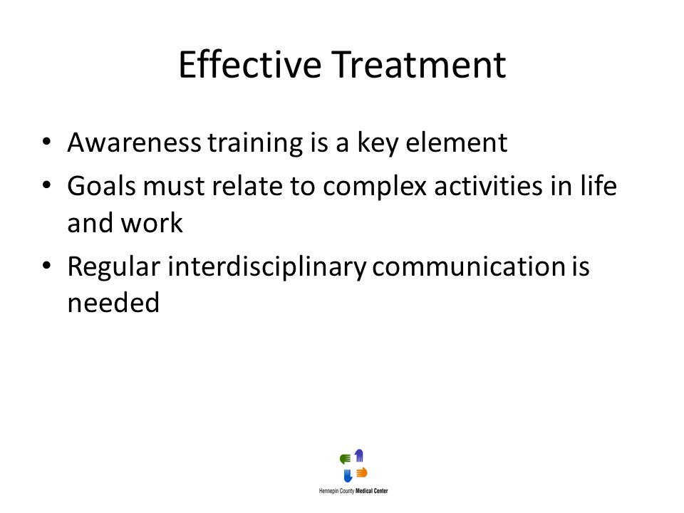 Effective Treatment Awareness training is a key element