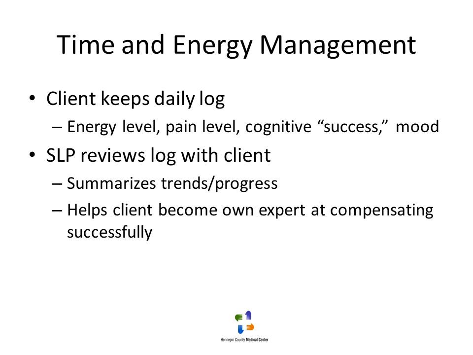 Time and Energy Management