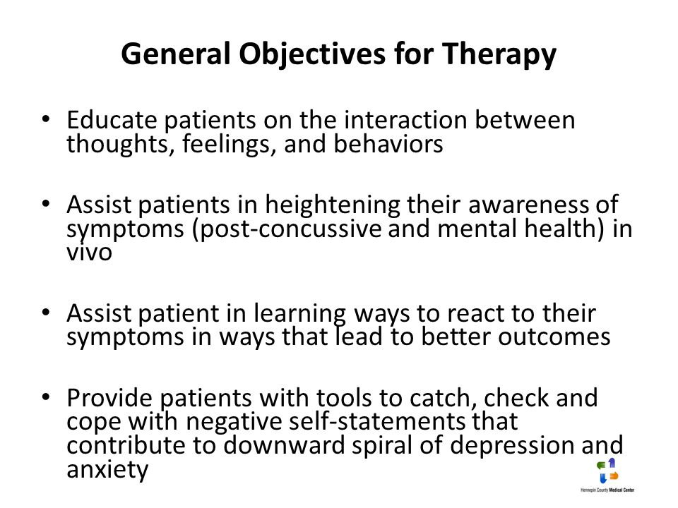 General Objectives for Therapy