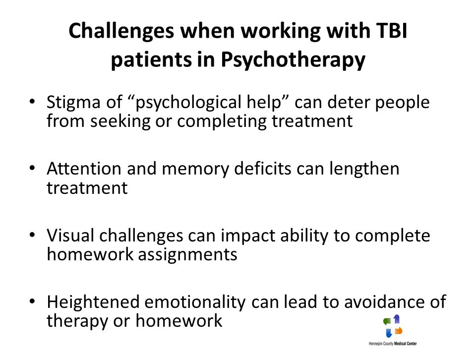 Challenges when working with TBI patients in Psychotherapy