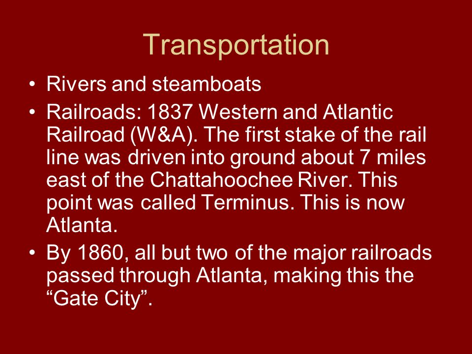 Transportation Rivers and steamboats