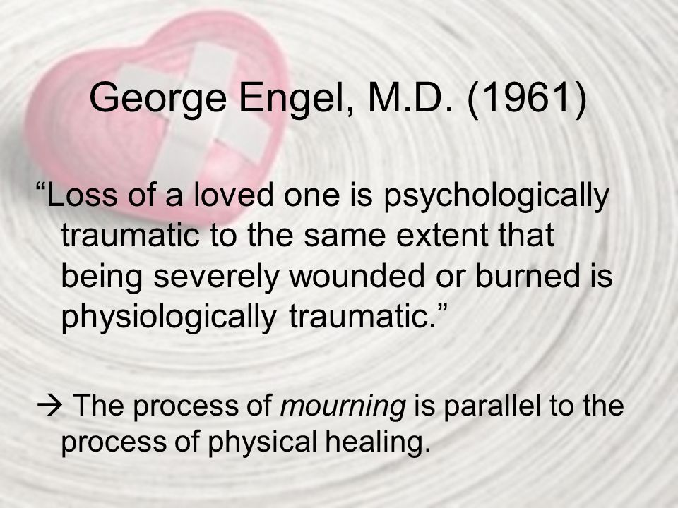 George Engel, M.D. (1961)