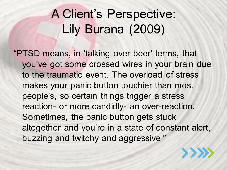 A Client's Perspective: Lily Burana (2009)