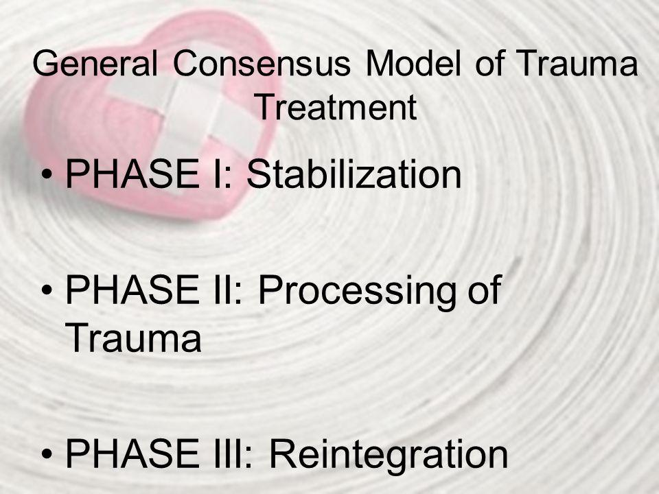 General Consensus Model of Trauma Treatment
