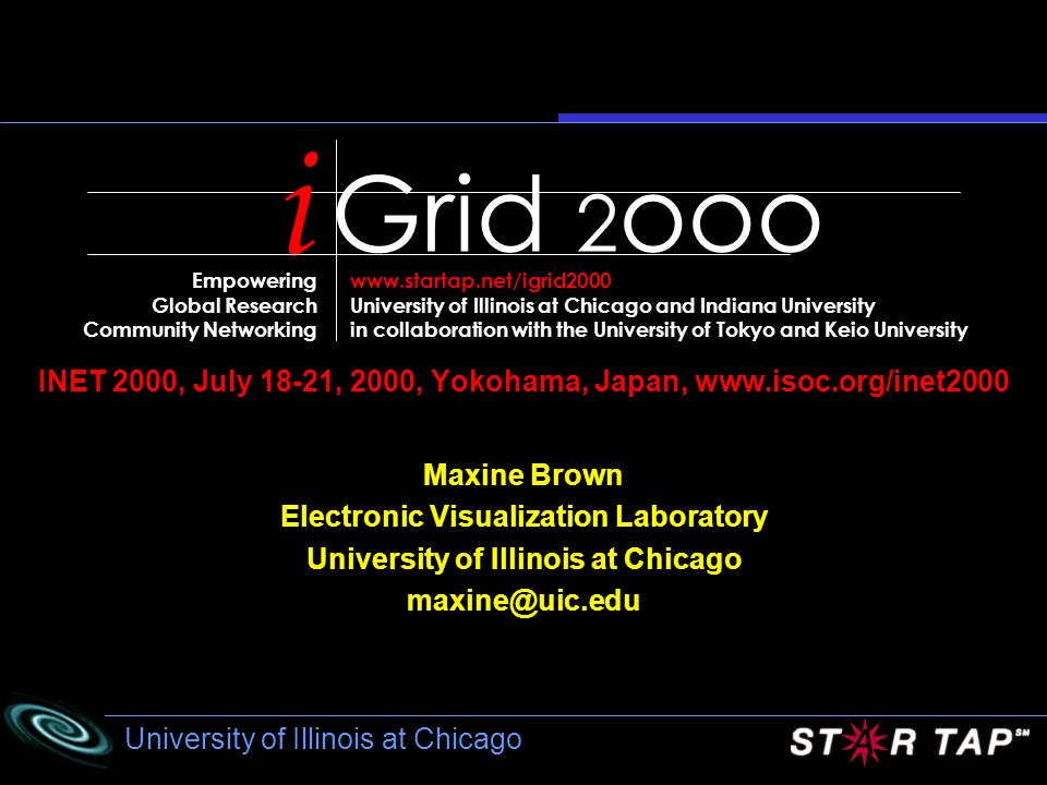 Grid 2ooo i. Empowering. Global Research. Community Networking. www.startap.net/igrid2000.