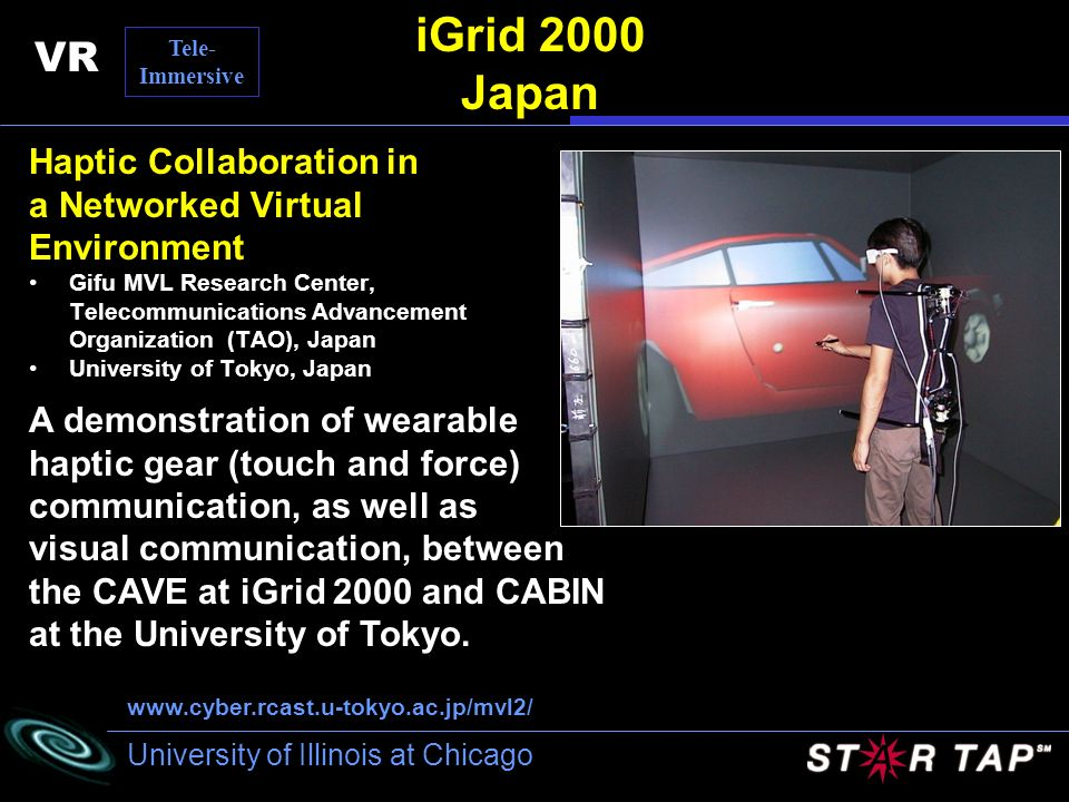 iGrid 2000 Japan VR Haptic Collaboration in a Networked Virtual