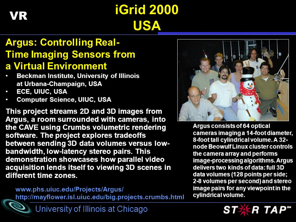 iGrid 2000 USA VR Argus: Controlling Real- Time Imaging Sensors from