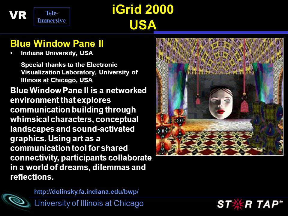 iGrid 2000 USA VR Blue Window Pane II