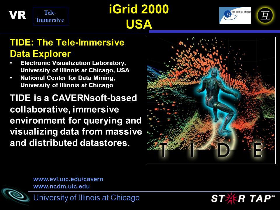 iGrid 2000 USA VR TIDE: The Tele-Immersive Data Explorer