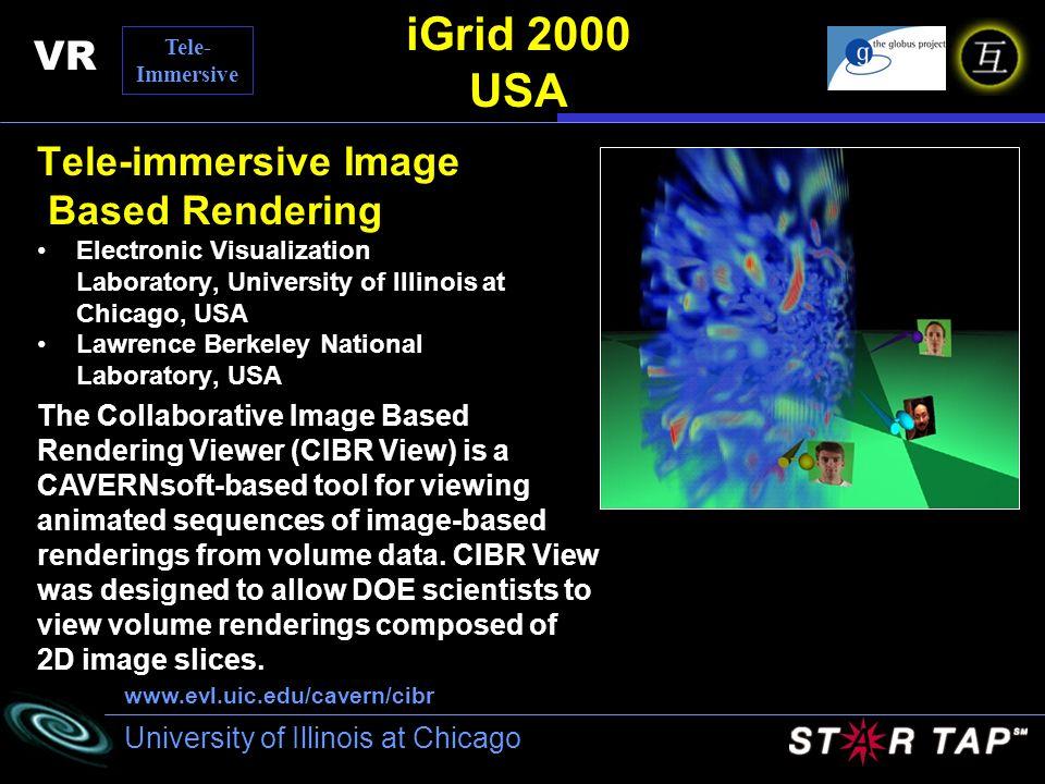 iGrid 2000 USA VR Tele-immersive Image Based Rendering