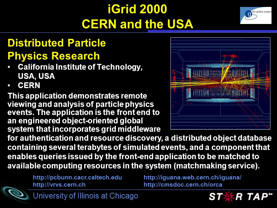 iGrid 2000 CERN and the USA Distributed Particle Physics Research