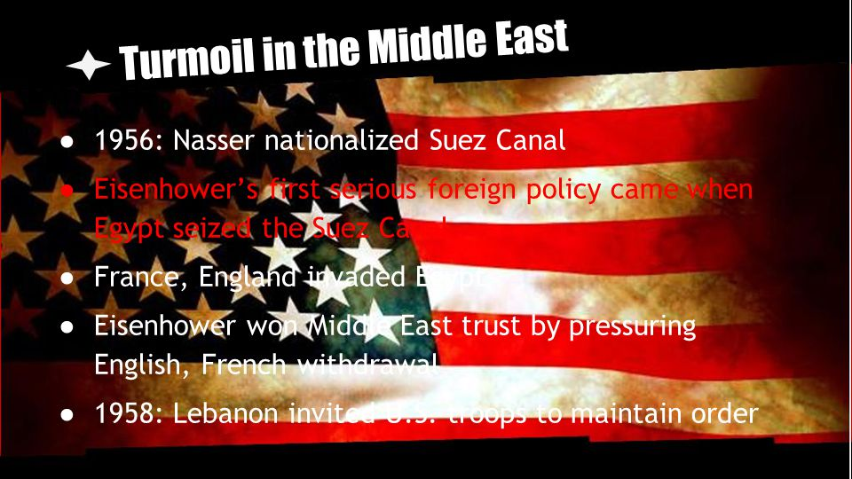 Turmoil in the Middle East
