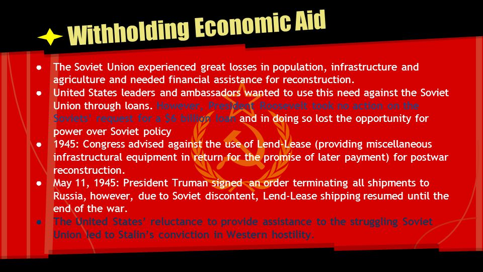 Withholding Economic Aid